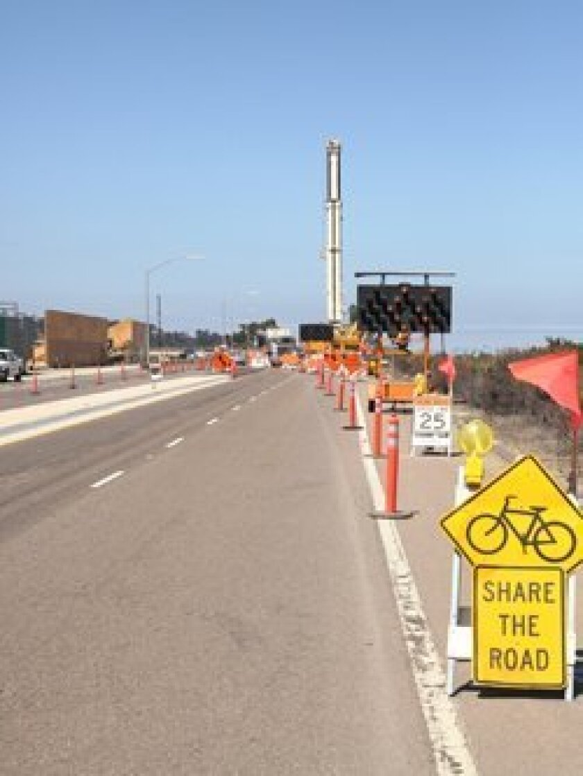 The new wildlife undercrossing under El Camino Real is expected to be complete by September. Photo/Jon Clark