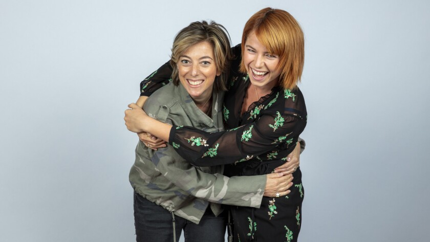 TORONTO, ONT., CA -- SEPTEMBER 09, 2018-- Writer Nicole Taylor, and actress Jessie Buckley, from the