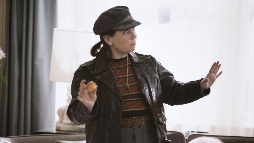 "Alex Borstein as Susie Myerson in Amazon's ""The Marvelous Mrs. Maisel."""