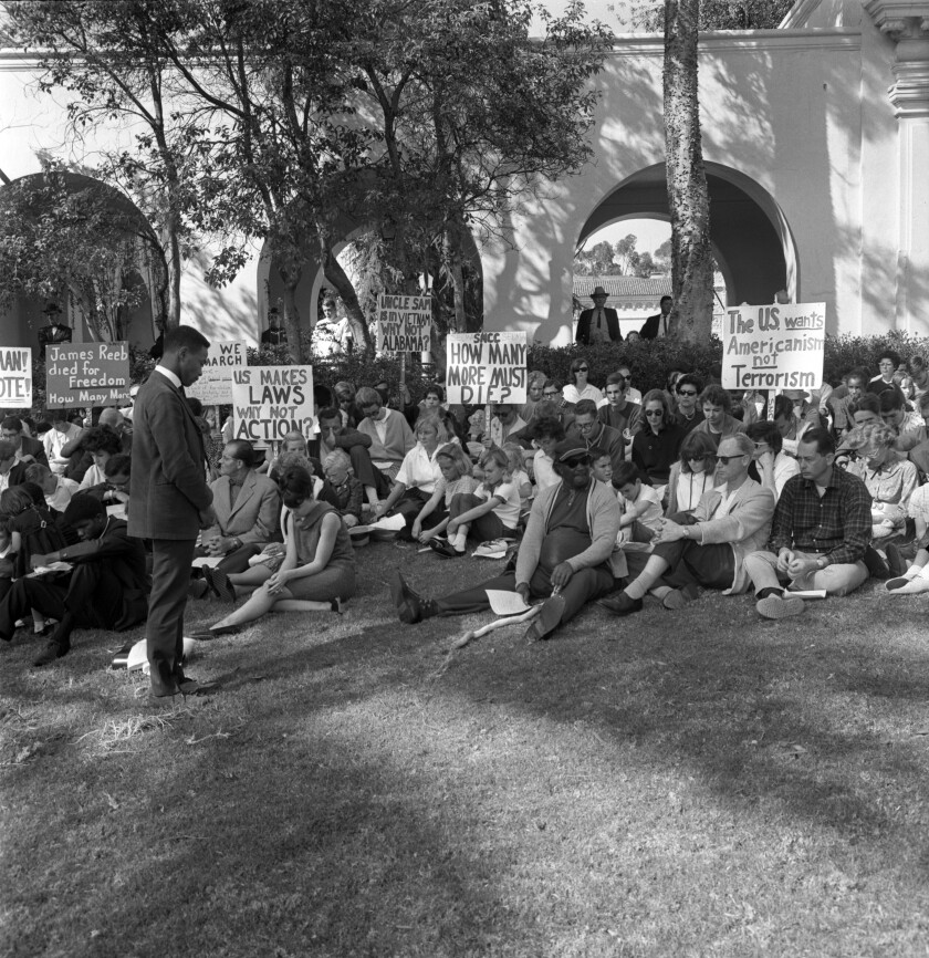 1965  the Student Non-Violent Coordinating Committee participated in a rally in Balboa Park  to memorialize James Reeb.
