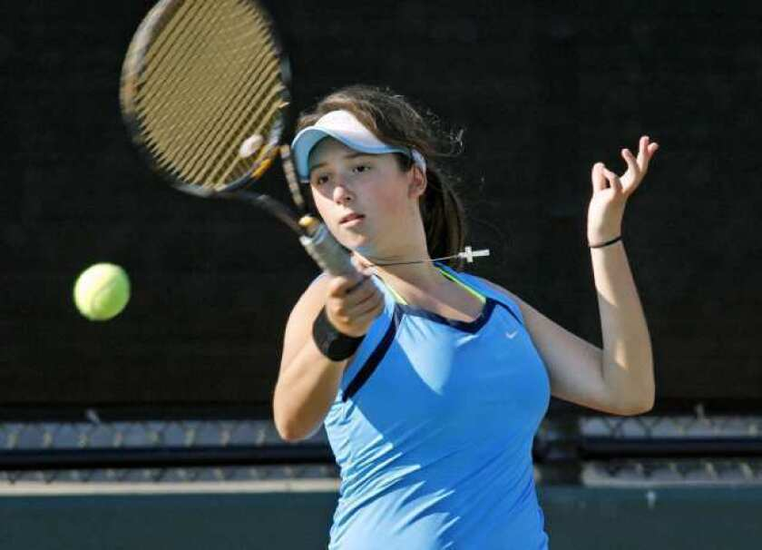 Bulldogs dominate rival Indians in girls' tennis