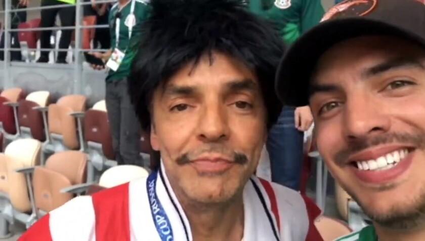 El comediante Eugenio Derbez estuvo a punto de perderse el triunfo memorable de su equipo por hacer de las suyas.