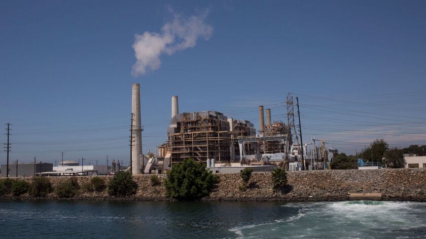 The AES power plant on Studebaker along the San Gabriel River in Long Beach, Calif. on Aug. 1.