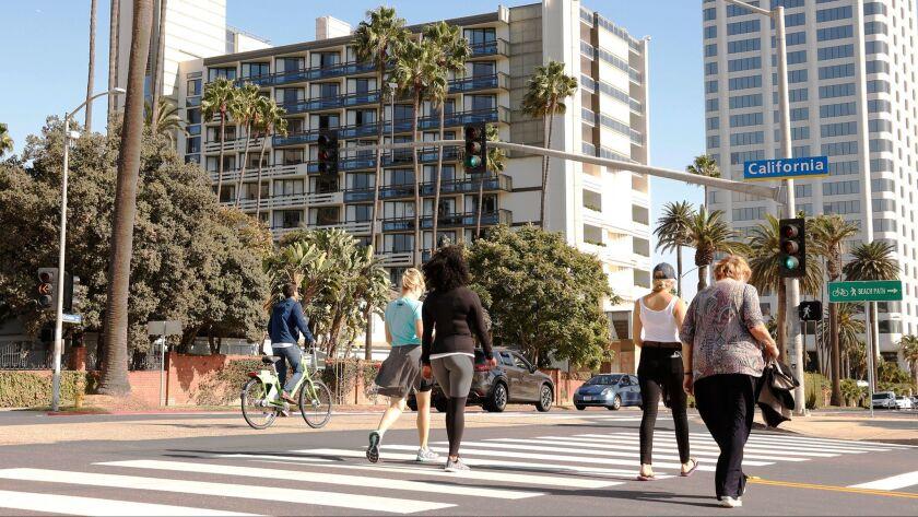 SANTA MONICA, CA - NOVEMBER 01, 2016 - The Fairmont Miramar Hotel and Bungalows located on Ocean Ave