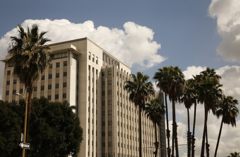 Metropolitan Water District headquarters in downtown Los Angeles, next door to Union Station.