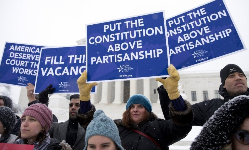 Demonstrators at Supreme Court
