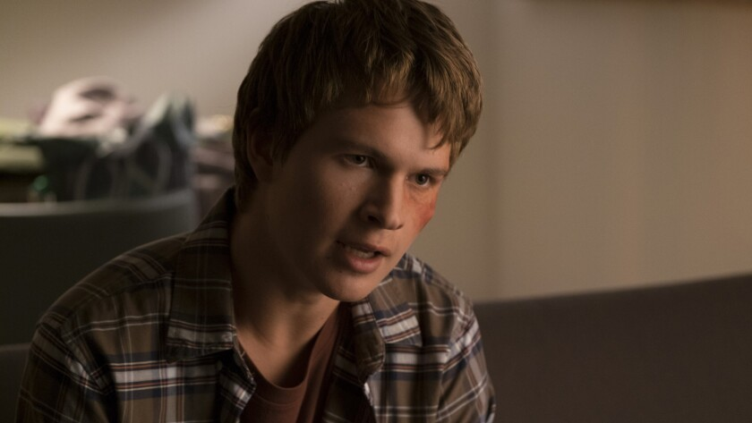 "Ansel Elgort in a scene from the movie ""Jonathan."" Credit: Well Go USA"