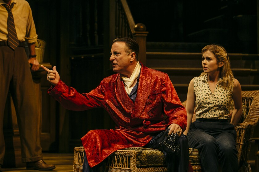"""Andy Garcia, left, and Rose McIver in """"Key Largo"""""""