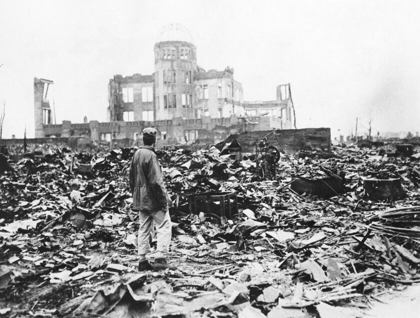 An estimated 140,000 people died from the atomic bomb that detonated in Hiroshima on Aug. 6, 1945. Three days later, another A-bomb was dropped on Nagasaki. AP file