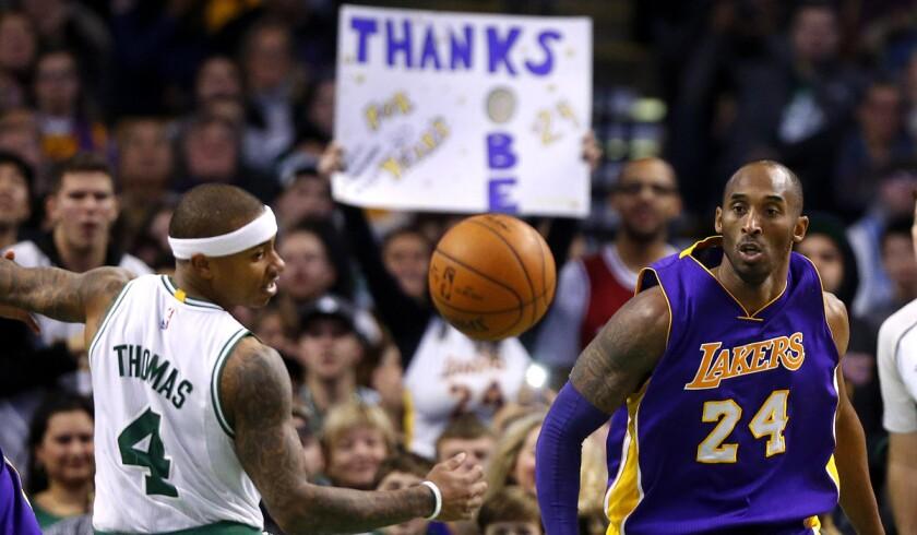 Boston allows Kobe Bryant to look back at Lakers 2008 loss and its motivation