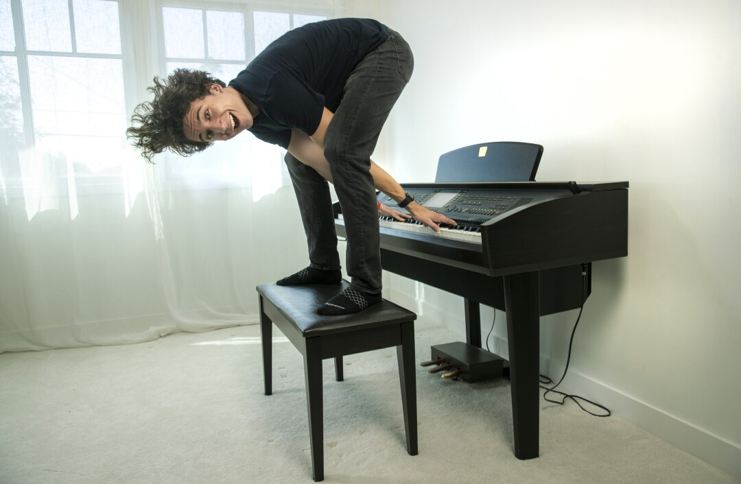 YouTuber Daniel Thrasher at his piano