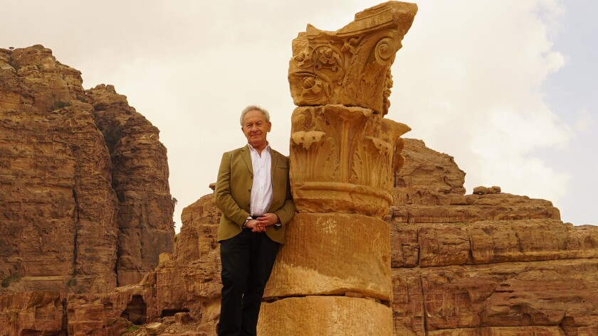 """Historian Simon Schama visits the ancient city of Petra in Jordan in the new series """"Civilizations"""" on KOCE."""