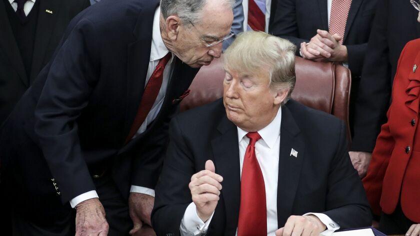 A Republican senator signals interest in Trump's tax returns