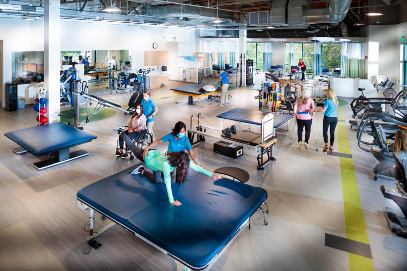 The new 20,000-square-foot center is equipped with the latest diagnostic and therapeutic equipment.