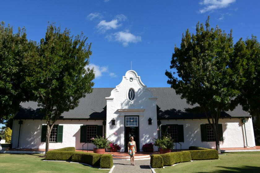The Cape Dutch architectural style of the Voyager Estate Winery in the Margaret River region.