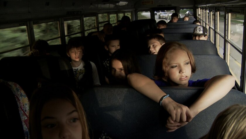 """Bully"" takes viewers on the morning bus ride in Sioux City, Iowa. The Weinstein Co."