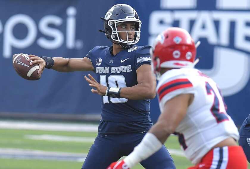 Utah State quarterback Jordan Love could go anywhere from the Top 10 to the second round of April's NFL Draft in Las Vegas.