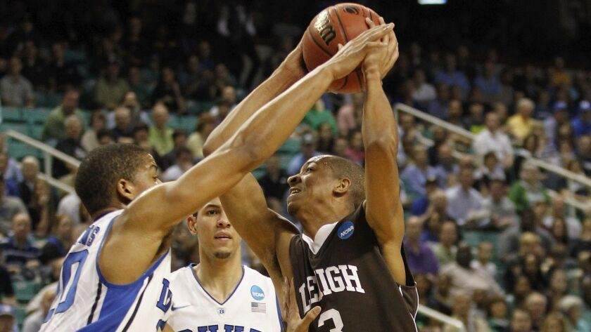 C.J. McCollum scored 30 points against Duke to lead Lehigh to a victory in the 2012 NCAA tournament.