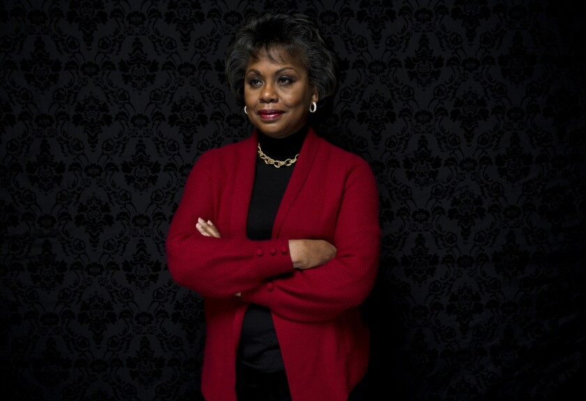 """Law professor Anita Hill looks at the positives in her life as she talks about the documentary """"Anita,"""" which recounts her role in the Senate hearings over Supreme Court nominee Clarence Thomas in 1991."""