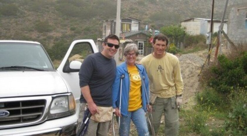 Kathy Faller (center) has orchestrated more than 16 home builds in Mexico.