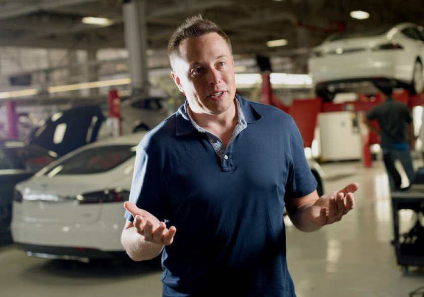 """Elon Musk, co-founder and chief executive of Tesla Motors Inc., says a """"fifth mode"""" of transportation will cover L.A. to San Francisco in 30 minutes."""