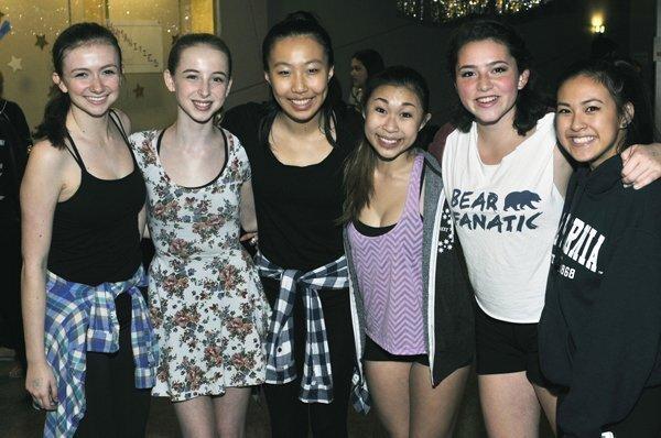 Dance performers Sara Atun, Marina Hartogs, Emily Wang, Sarah Sek, Alyssa Vacheror and Claire Du