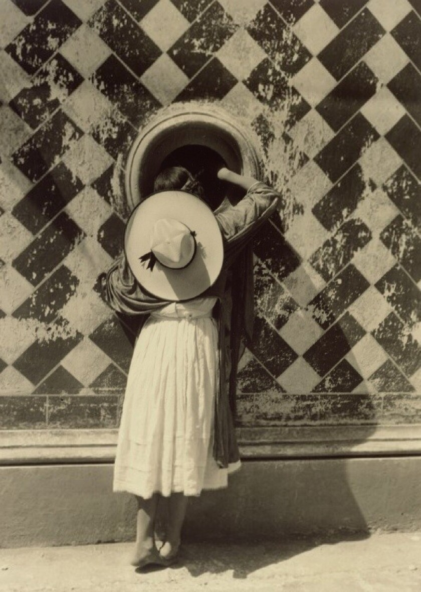 "This 1933 photograph by Mexican photographer Manuel Alvarez Bravo, ""Daughter of the Dancers,"" belongs to the Getty Museum."