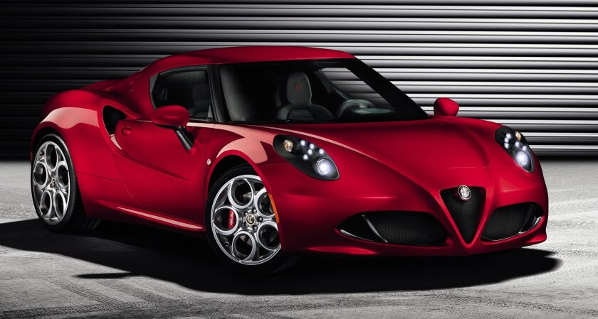 Alfa Romeo's rear-wheel-drive 4C sports car is scheduled to be at dealerships by year end.