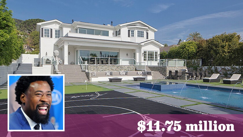 L.A. Clippers center DeAndre Jordan has sold his home in Pacific Palisades at a loss.