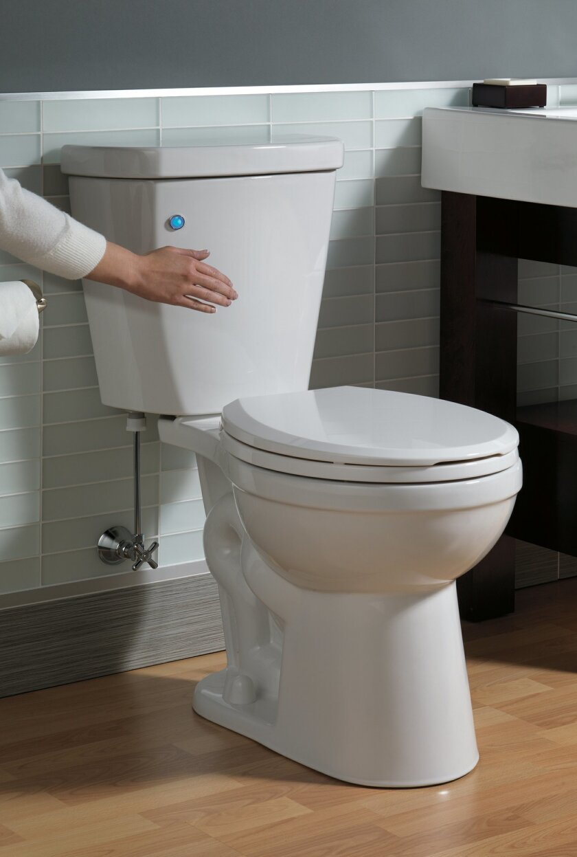 New Delta toilet offers touch-free flush, leak detection and overflow prevention.