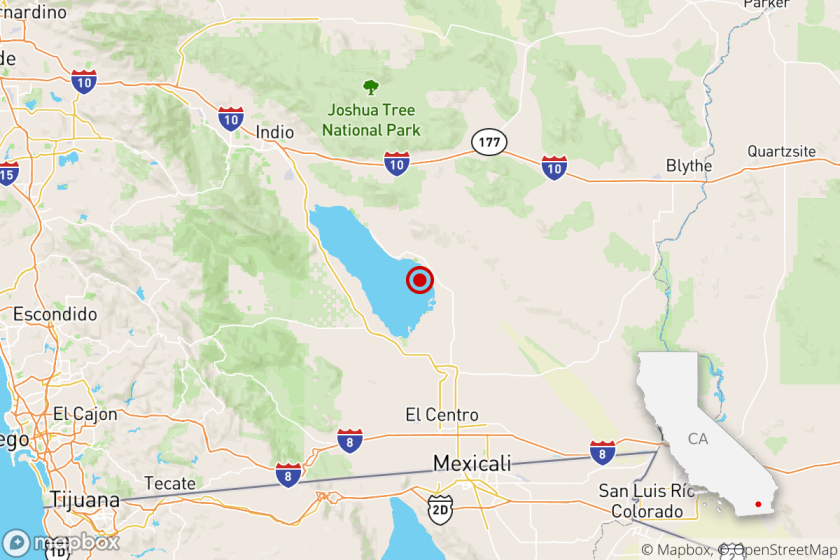 A swarm of small earthquakes erupted Monday on the southern San Andreas fault, near the Salton Sea.