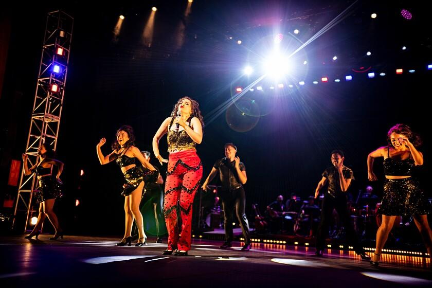 "Ariella Kvashny as Gloria Estefan in Moonlight Stage Productions' ""On Your Feet!"""