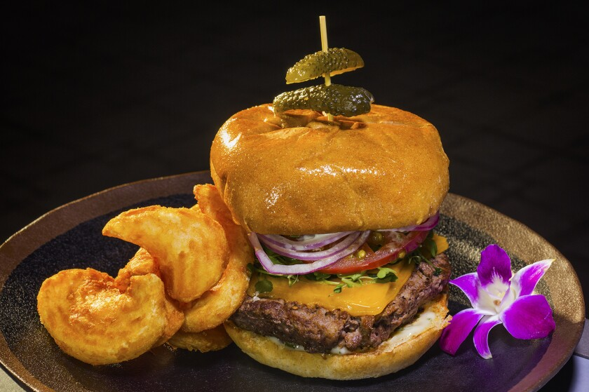 The Kobe beef burger at Pala Casino Spa & Resort's Luis Rey's is a steakhouse-quality sandwich.