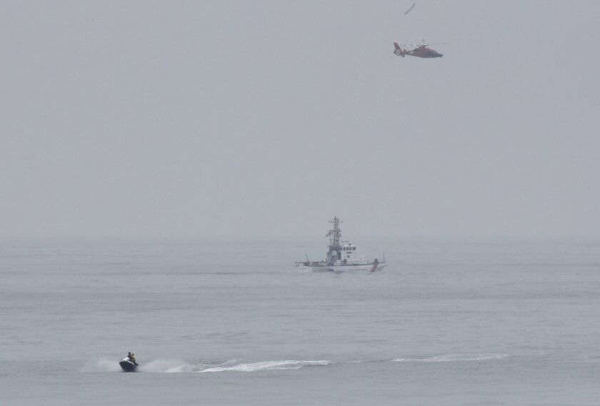 A search was underway Sunday for the pilot of a small plane that went down in the waters off Isla Vista.