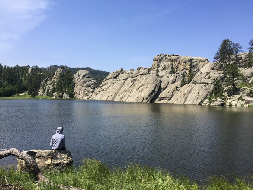 Sylvan Lake, in South Dakota's Custer State Park, is popular with hikers and anglers.