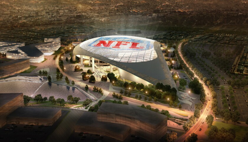 The NFL stadium in Inglewood is expected to be open for the 2019 season.