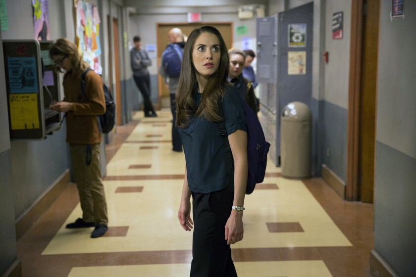 """Alison Brie, as Annie Edison, is back in the halls of Greendale Community College, in the Yahoo Screen-based sixth season of Dan Harmon's """"Community."""""""