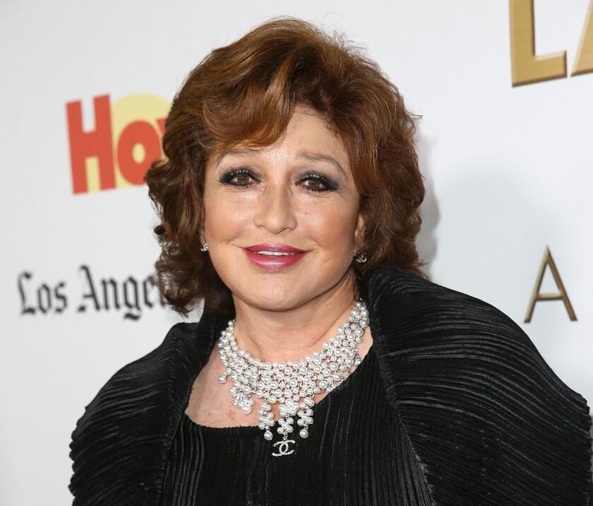 Angelica Maria cuando recibió en el 2014 el Premio Latinos De Hoy Awards' presentado por Hoy & Los Angeles Times en Los Angeles Times Chandler Auditorium el 11 de Octobre de 2014 en Los Angeles, California.