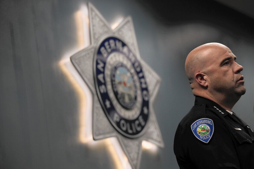 When the Inland Regional Center came under attack, San Bernardino Police Chief Jarrod Burguan calmly coordinated with various agencies and began informing the public as best he could.