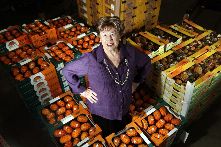 Produce legend Frieda Caplan