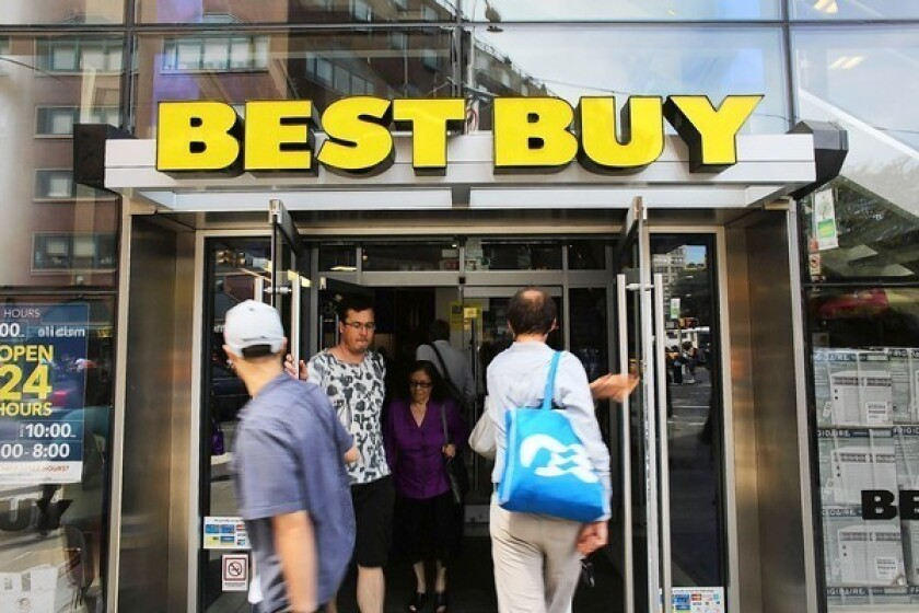 Best Buy stock leaps 16% on holiday-season results