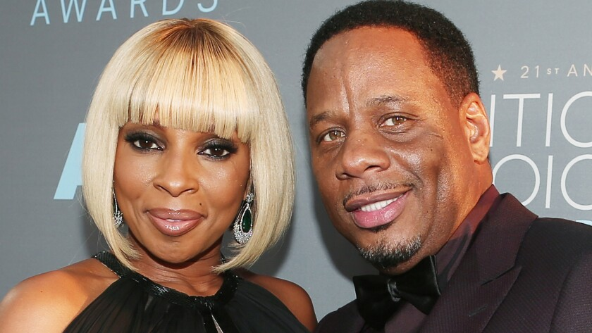 Mary J. Blige and Kendu Isaacs at the 21st Annual Critics Choice Awards in January 2016.
