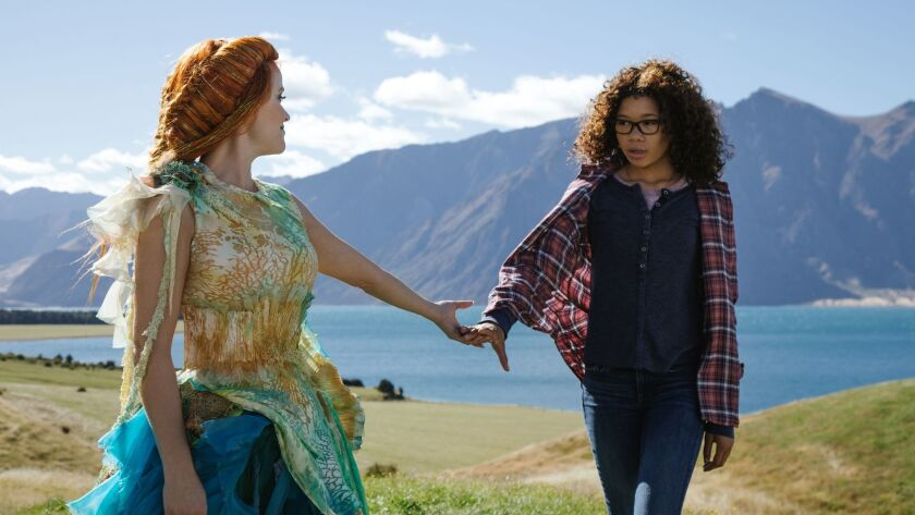 "Reese Witherspoon is Mrs. Whatsit and Storm Reid is 14-year-old Meg Murry in ""A Wrinkle in Time."""