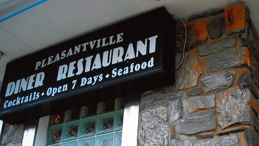 50 years later, the Pleasantville Diner had a new façade but pretty much the same menu.