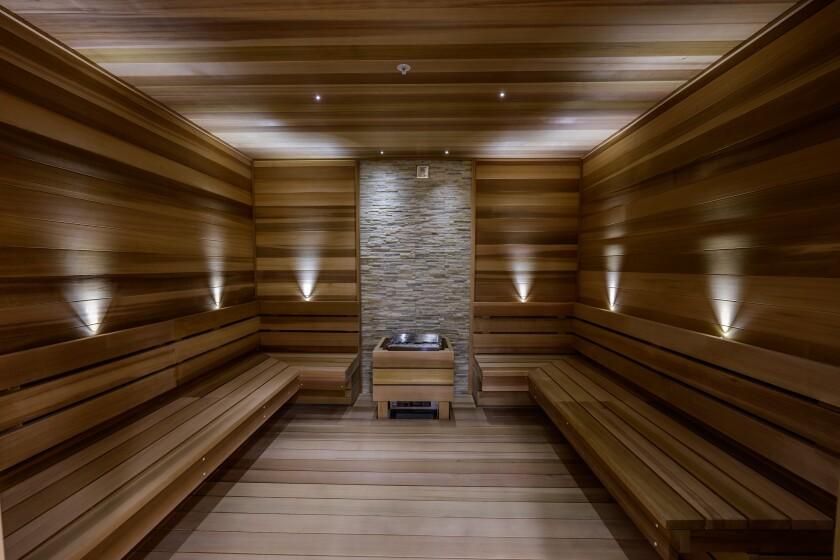 Life Time La Jolla's sauna.