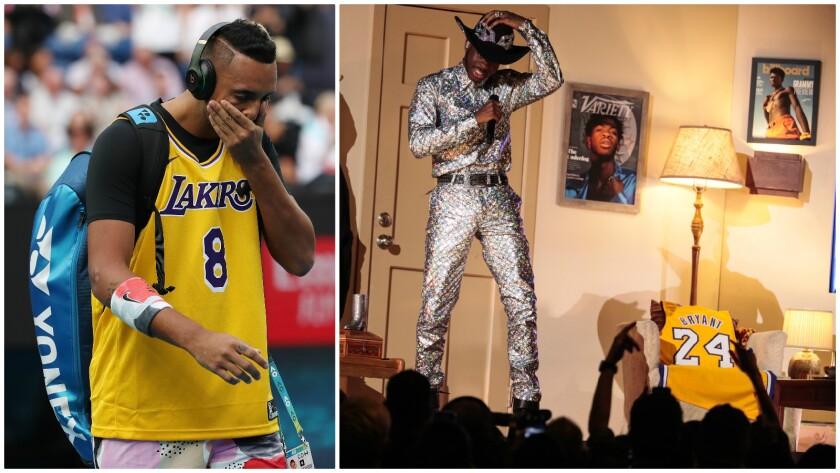 Athletes, stars pay wearable tribute to Kobe Bryant
