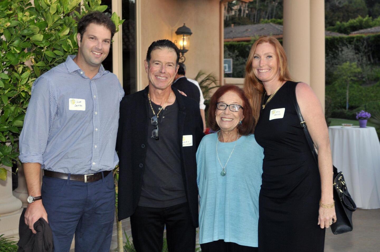 Scott DeNike, hosts Larry Belinsky and mom Esther Belinsky, RSF Tennis Club pro Allison DeNike