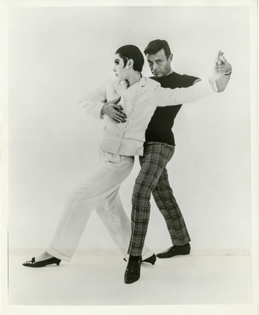 Peggy Moffitt and Rudi Gernreich dancing. A look at designer Rudi Gernreich (1922-1985) retrospectiv