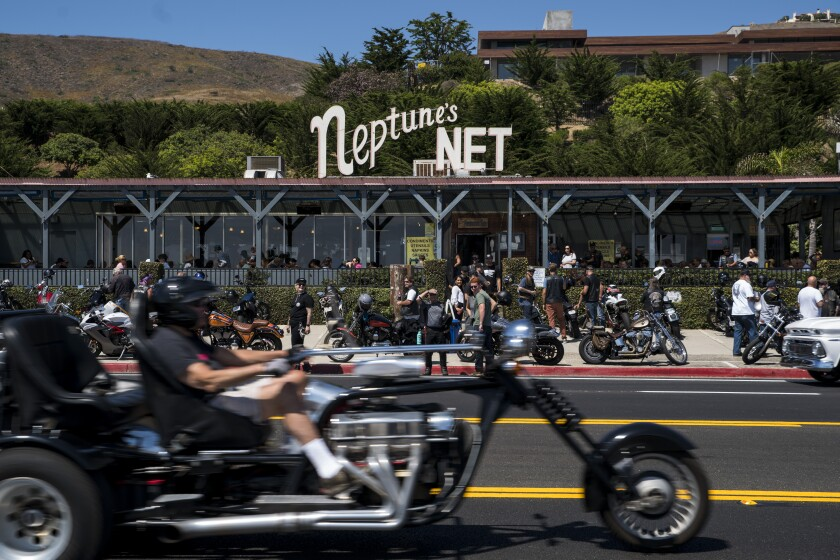 Neptune's Net is a haven for bikers, and seafood lovers as well.