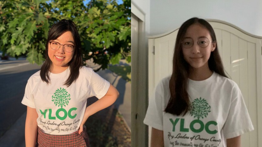 Stella Hong and Laura Park are co-presidents of the Buena Park chapter of the Young Leaders of Orange County.
